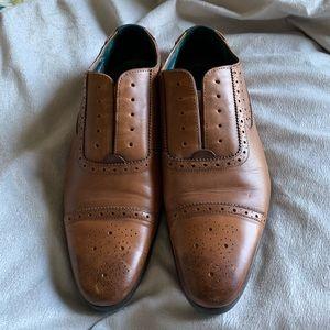 "Ted Baker ""Jaksone"" cognac leather wingtips 10"